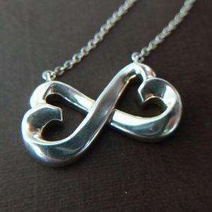 Tiffany & Co. Double Loving Heart Pendant Necklace